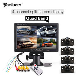 "China High Definition 7"" Quad Monitor For Car Side Blind Spot Parking Reversing Aid System factory"