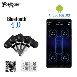 Universal Tyre Pressure Monitoring System Android IOS TPMS Mobile Phone APP Display