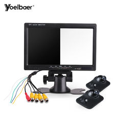 China LED Car Reversing Aid System Desktop Back Up 7 Inch Rearview Mirror Monitor factory