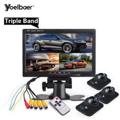 Wide Voltage Reverse Parking Assist System Car Black Box Rear Camera 7 Inch Monitor