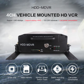 China Bus HDD Mobile DVR GPS 3G WIFI 4CH PTZ Control With Smart CMS Software factory