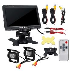 China 24v Rear View Vehicle Reversing Systems 7 Inch TFT LCD Screen Display factory