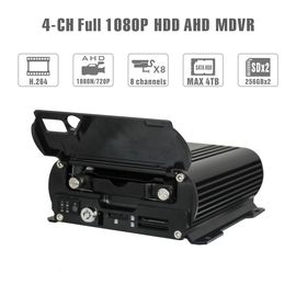 China Realtime 4Ch Mobile DVR GPS Position 1080 AHD Hard Disk Dvr Recorder HD Cycle factory