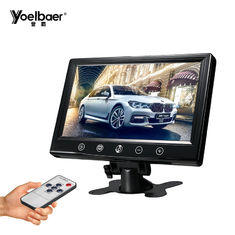 Rear View Car Video Screen Monitor VGA 9 Inch High Resolution 1024x600 9-35V
