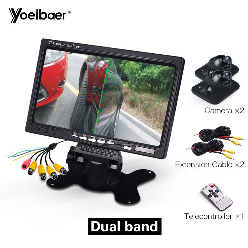 Waterproof Car Parking Aid System Desktop 7 Inch Car Monitor With 4 Channels supplier
