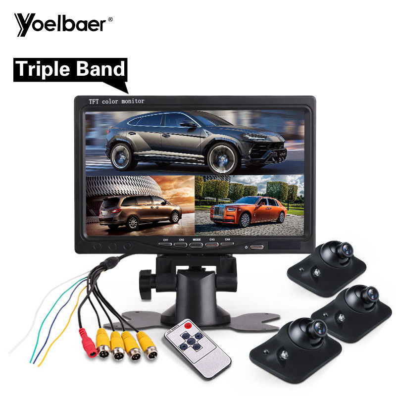 Wide Voltage Reverse Parking Assist System Car Black Box Rear Camera 7 Inch Monitor supplier