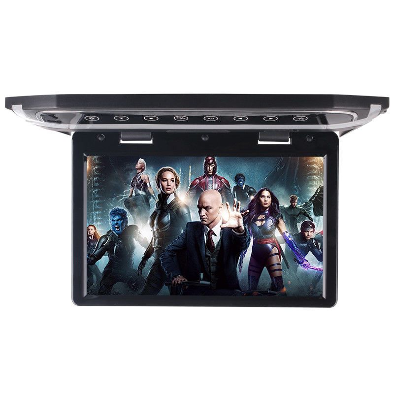 High Resolution Motorized LCD Monitor 12 Inch HD LED Flip Down BUS Roof TV Monitor supplier