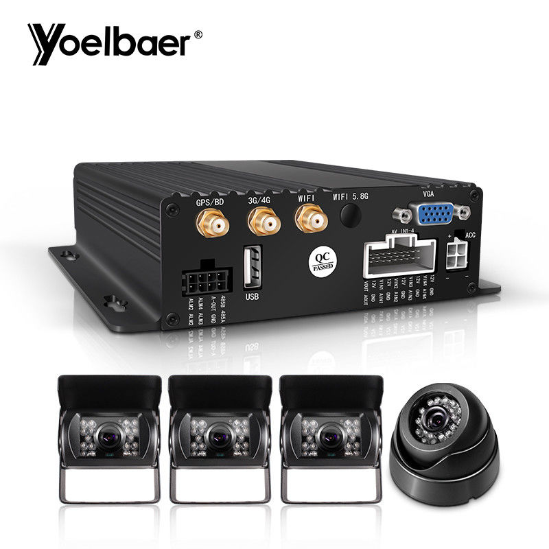 1080P AHD Mobile DVR System Real Time G Sensor 3G 4G SD Mini Car Security CMSV6 supplier