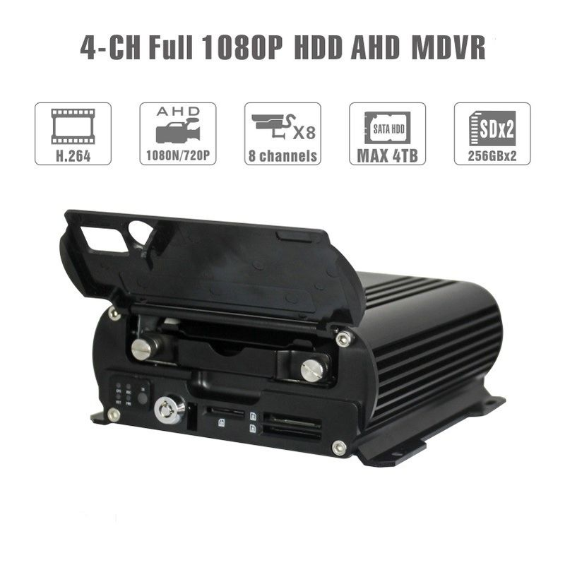 Realtime 4Ch Mobile DVR GPS Position 1080 AHD Hard Disk Dvr Recorder HD Cycle supplier