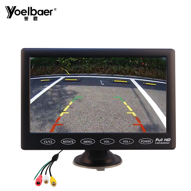 Touckscreen 7 Inch Vehicle Video Monitor AV Aviation 1024 X 600 Car TFT LCD Type supplier