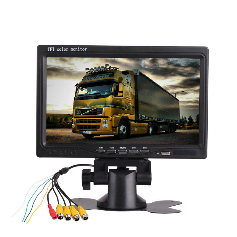 400/1 Quad Screen Car TFT LCD Monitor 7 Inch 16/9 Backup DC Port Power Supply supplier