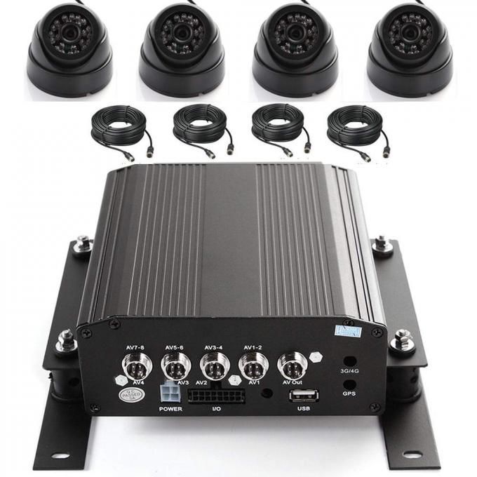 Full 720P AHD 8 Channel Mobile DVR For Bus Trucker Shipping Security System